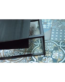 stolik kawowy metalowy z metalowym blatem No337