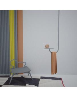 Wieszak metalowy sufitowy z półką